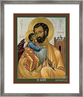 St. Joseph Of Nazareth - Rljnz Framed Print