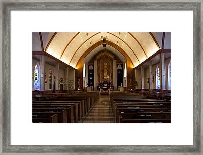 Framed Print featuring the photograph St. Josephs Catholic Church by Monte Stevens