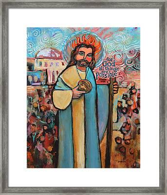 St. Jude Framed Print by Jen Norton