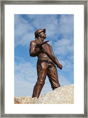 St Just Miner Framed Print by Terri Waters