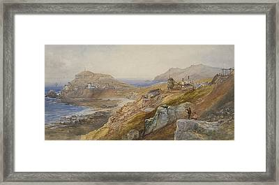 St Just United Mines Framed Print by Thomas Hart