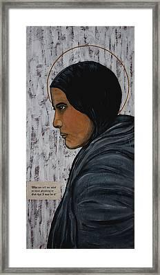 St. Kateri Tekakwitha Framed Print by Ralph LeCompte