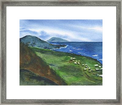St Kitts View Framed Print by Frank Bright