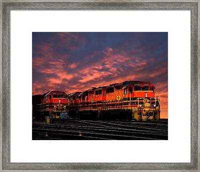 St Lawrence And Atlantic Rr  Framed Print