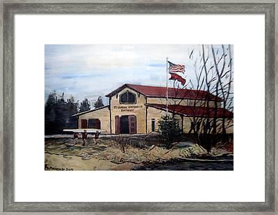 St. Lawrence Boathouse Framed Print by Denny Morreale