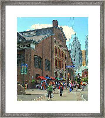 St Lawrence Market Framed Print by Ian  MacDonald