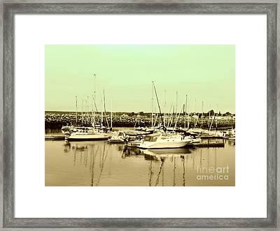St. Lawrence Seaway Marina Framed Print