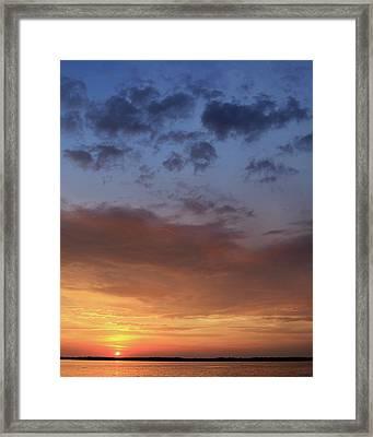 St. Lawrence Sunset I Framed Print by Lori Deiter