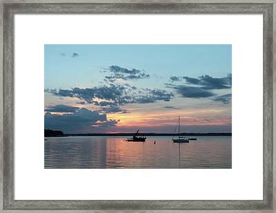 St. Lawrence Sunset II Framed Print by Lori Deiter