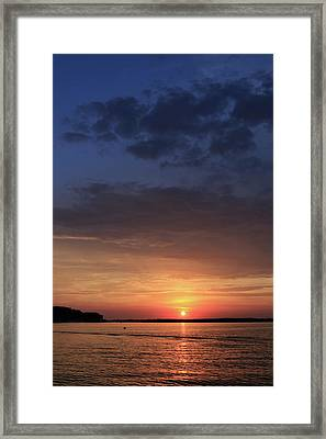 St. Lawrence Sunset 3 Framed Print by Lori Deiter