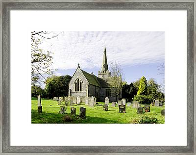 St Leonard's Church At Monyash Framed Print