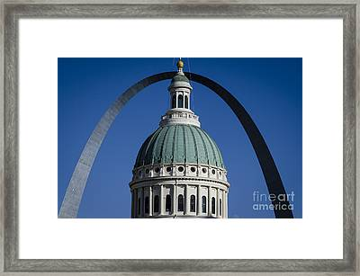 St. Louis Arch Framed Print