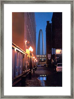 Framed Print featuring the photograph St. Louis Arch by Steve Karol