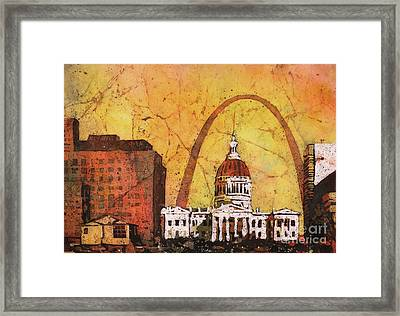 St. Louis Archway Framed Print by Ryan Fox
