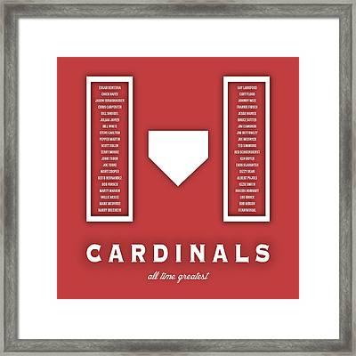 St. Louis Cardinals Art - Mlb Baseball Wall Print Framed Print