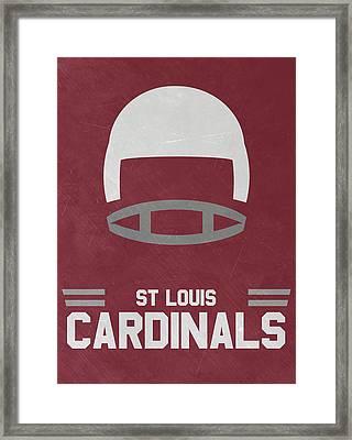 St Louis Cardinals Vintage Art Framed Print by Joe Hamilton