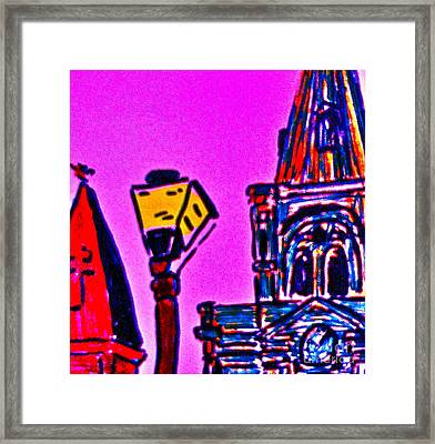 St. Louis Cathedral Abstract Framed Print by John Giardina