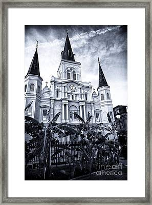 St. Louis Cathedral At Night Framed Print by John Rizzuto