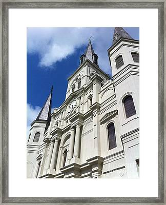 St. Louis Cathedral In The Afternoon Framed Print by John Giardina