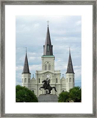 St Louis Cathedral Framed Print