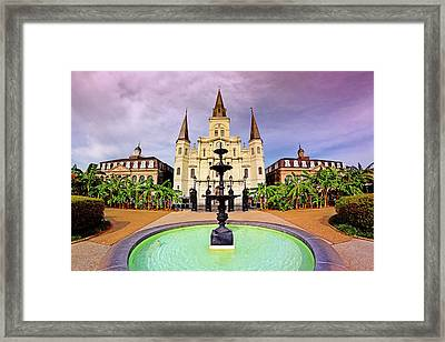 Framed Print featuring the photograph St. Louis Cathedral - New Orleans - Louisiana by Jason Politte