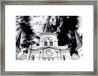 St. Louis Cathedral View Framed Print by John Rizzuto