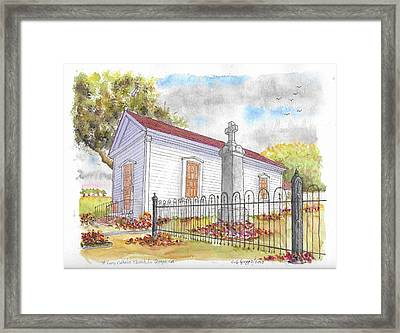 St. Louis Catholic Church, La Grange, California Framed Print by Carlos G Groppa