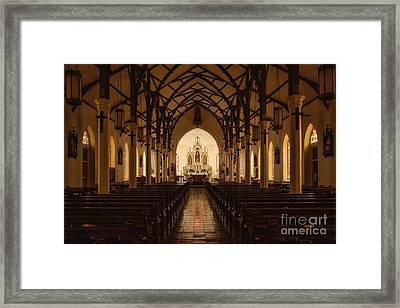St. Louis Catholic Church Of Castroville Texas Framed Print