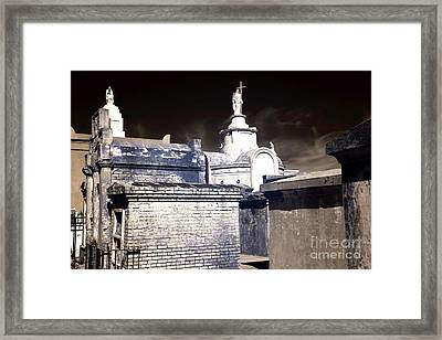 St. Louis Cemetery No. 1 Infrared Framed Print by John Rizzuto