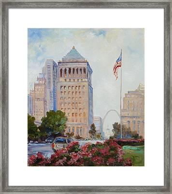 St. Louis Civil Court Building And Market Street Framed Print