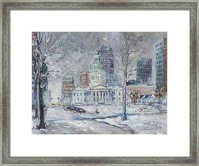 St. Louis Downtown Old Courthouse Framed Print