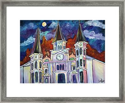 St. Louis Glowing Framed Print by Angel Turner Dyke
