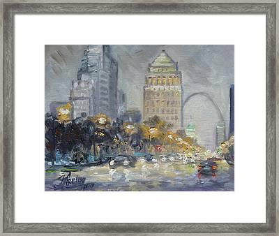 St. Louis Market Street Framed Print