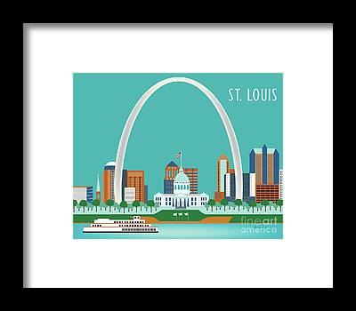 St. Louis Arch Framed Prints