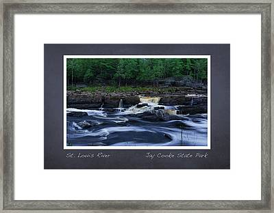 Framed Print featuring the photograph St Louis River Scrapbook Page 1 by Heidi Hermes