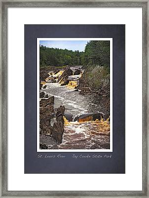 Framed Print featuring the photograph St Louis River Scrapbook Page 3 by Heidi Hermes