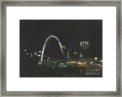 St. Louis Riverfront 1 Framed Print by Helena M Langley