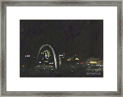 St. Louis Riverfront 2 Framed Print by Helena M Langley