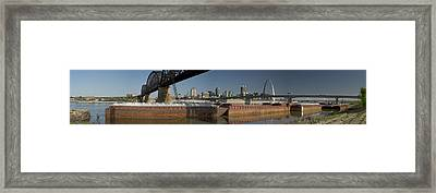 St Louis Riverfront Framed Print