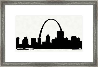 St Louis Silhouette With Boats 2 Framed Print