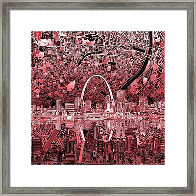 St Louis Skyline Abstract 3 Framed Print