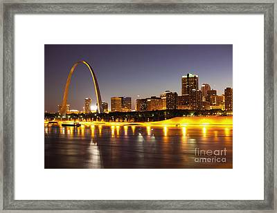 St Louis Skyline Framed Print