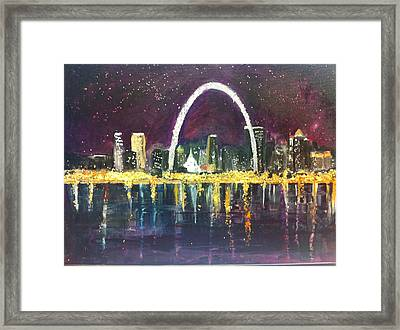 St. Louis Skyline Framed Print by Made by Marley
