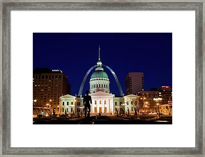 Framed Print featuring the photograph St. Louis by Steve Stuller