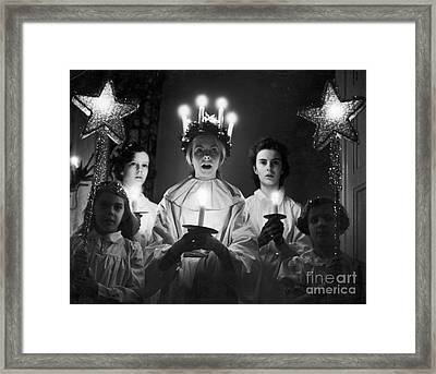 St. Lucia Day Framed Print by Granger