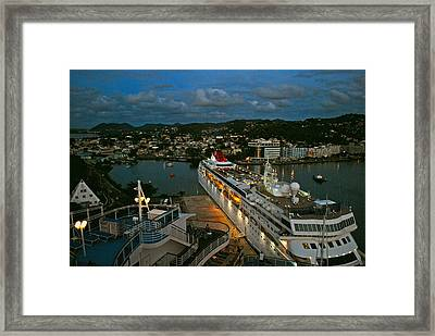St. Lucia In The Evening Framed Print