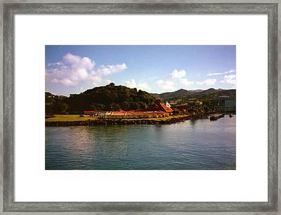 St Lucia Welcome Center Framed Print by Russ Mullen