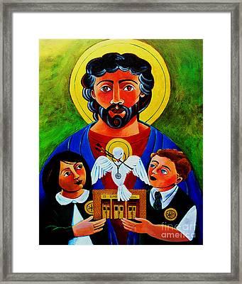 St. Luke The Evangelist - Mmluk Framed Print