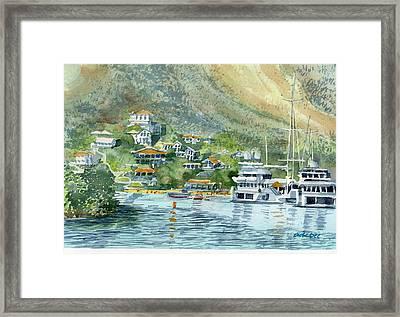 St. Maarten Cove Framed Print