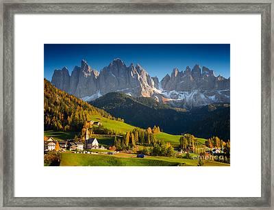 St. Magdalena Alpine Village In Autumn Framed Print